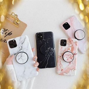 Wholesale fashion Marble Stone Phone Case for iPhone 11 Pro XS MAX XR X 8 7 6S Plus Soft TPU phone cases with Bracket Fitted dirt-resistant