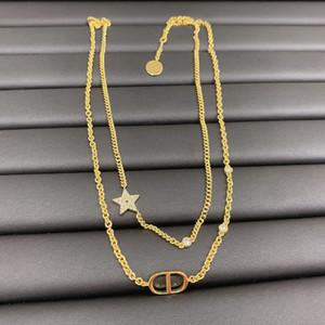 D casa 2020 Dijia nuova lettera CD doppio strato due-in-one collana stella a cinque punte bracciale alto versione