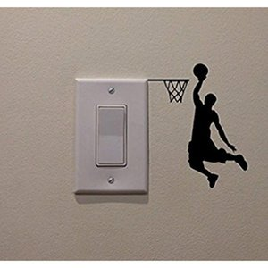 Cartoon Basketball Player Dunk Wall Sticker For Home Decorative Vinyl Living Room Wall Decor Decals Switch Stickers GuPFw