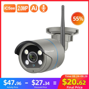 Techage 1080P Wireless IP Camera Human Motion Detect Two Way Audio Outdoor Home Security Video Surveillance CCTV Camera TF Card