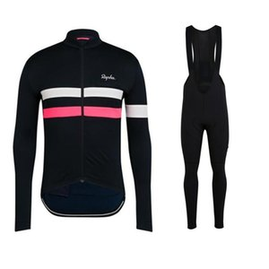 Raphaful RCC men suits winter cicling riding bicycle long sleeve set ciclismo velveteen sweatshirt cycling jersey bib trousers