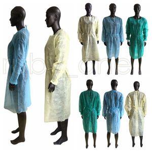 غير المنسوجة الملابس الواقية المتاح عزل أثواب الملابس البدل مكافحة الغبار في الهواء الطلق ملابس واقية المتاح معطف واق من المطر RRA3534