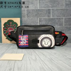 Estilo clásico Hot Hot Hot And Women Bags Bolsas de cuero genuino Mujeres Fanny Pack Impreso Designer Cintura para hombre 474293