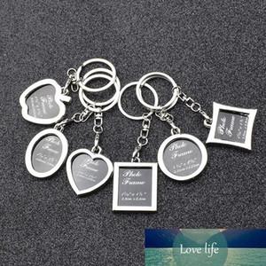 6 modèles clés clé cadre photo porte-clés amant image chaîne locket anneaux pendentifs coeur pour les femmes hommes cadeau d'anniversaire dropship
