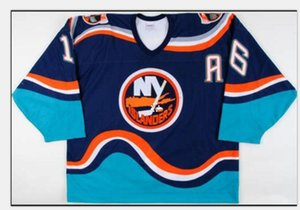 Donna-Uomo della gioventù Uomini Vintage # 16 Fishsticks Ziggy Palffy 1997-98 New York Islanders gioco Worn