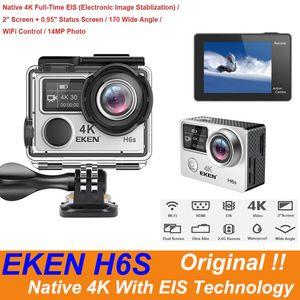 الأصل EKEN H6S الترا عمل كاميرا HD مع 4K / 30fps تجهيز 1080P / 60FPS EIS 30M ماء H6S الرياضة كاميرا الأصلية 4K مع تقنية EIS