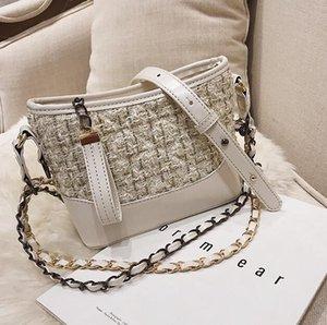 Bolsa de hombro mujeres Backet solo bolso de las señoras de bolsos pequeños de la cadena cesta de la compra Hobo