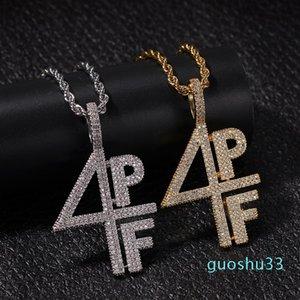 Hot Sale Fashion designer luxury Copper letters pendant necklace for men women cubic zirconia diamonds Show HIP HOP jewelry
