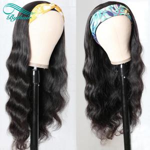 Bythair 100% humano peruca de cabelo Headband onda do corpo cabelo humano peruca Sem Arrancar Perucas por Mulheres No Glue No Sew Em Mais cabelos
