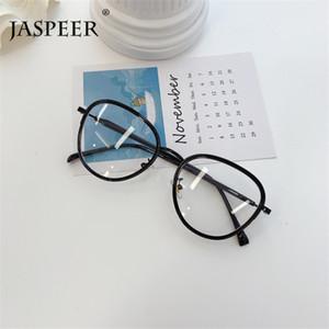 JASPEER Mode Brillenfassungen Mode Retro Braue Full Metal Glas-Rahmen Damen Herren Vintage-Brillen Optische