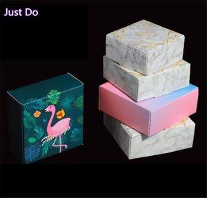 6,5 * 6,5 * 3см Малый Kraft Paper Box Браун картон мыло ручной работы Box красочное Craft Бумага Подарочные Черный Упаковка ювелирных изделий