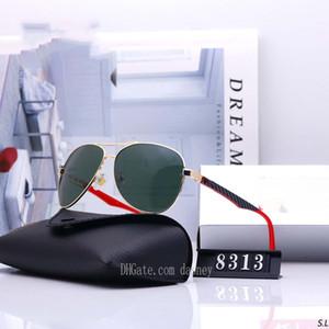 2020 Hot New Ray солнцезащитные очки Vintage Pilot Марка Солнцезащитные очки Aviator Ленточные поляризованные UV400 Мужчины Женщины Ben солнцезащитные очки 8313 с коробкой моды нового