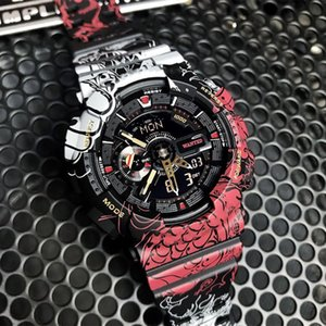 One Piece Co-Branded-Shock Uhren Limited Edition TOP Verkaufs-wasserdichte Military Watch Dropship mit dem Kasten Ga Stye 110 Mans Wecker New