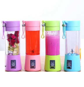 2020 1300MA Electric Juicer Cup Mini Portable USB Rechargeable Juice Blender And Mixer 2 leaf plastic Juice Making Cup