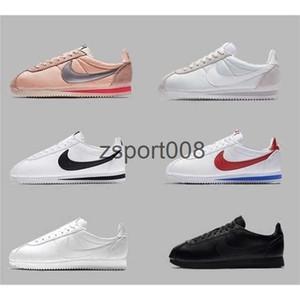 Лучший новый классический Cortez Основные мужские скольжения женская повседневная обувь кроссовки дешевые спортивные кожаные Кортеса премиум ультра муара обувь для ходьбы