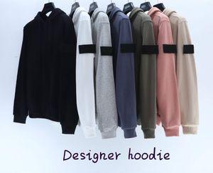 20FW Yeni erkek Hoodie Güz / Kış Yüksek Kalite Moda Ceket Eğilim Işlemeli Desen erkek Hoodie 7 Renk Boyutu M-2XL