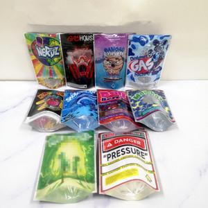 Yeni ŞAKA'S UP Runtz Tehlike Basınç torbaları SHARK LATO mylar çanta Balla Karpuzu 85mm * 125mm Koku Geçirmez Çanta 420 Kuru Ot Çiçek Ambalaj