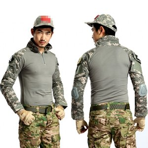 ACU Camouflage Tactical Shirt Combat BDU Uniform Shirt Men Long Sleeve Quick Dry Army T Camo Outdoor Hunting Hiking Shirts