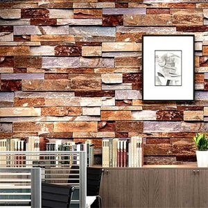 WELLYU papel de parede Imitation brick wallpaper retro nostalgic 3d embossed stone pattern marble TV background wall paper