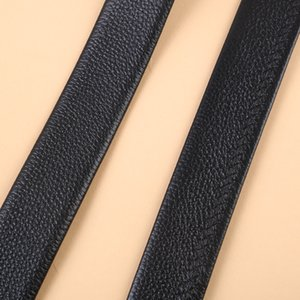 New Arrivals Time-Limited Designers All-match Mens Casual Automatic Metallic Decorative Button Top Layer Edging Leather Belt Simple and Eleg