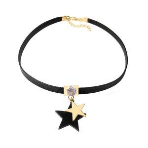 2020 Nova estrela de cinco pontas Cadeia De Clavícula Colar Curto Feminino Simples Estrela Negra Colar Neck Neckband