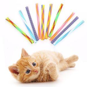 Играть придерживаться Pet Смешного DiY телескопического Toys Toys ЦВЕТА Способы 13смов Cat Cat Случайных Нейлон Множественной Игрушки Непоседа Rod LRlti homes2011