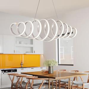 Современные подвесные светильники Luminaria Nordic Acrylic Black LED Люстра Подвесной светильник для гостиной Лофт Крытый Home Decor светотехника
