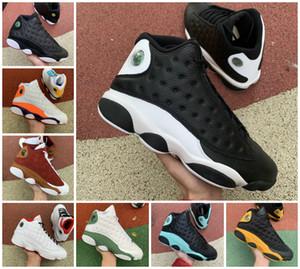 Новый 13 Flint Бред Чикаго Reverse Он доигрались Мело DMP Баскетбол обувь 13s Остров Зеленый Фантом площадка Retroes Плей-офф Спортивные тапки