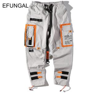 EFUNGAL Track Pants Man Color Block Pockets Full Length Hip Hop Pants Fashion Harajuku Streetwear Harem Joggers Casual Trousers 200925