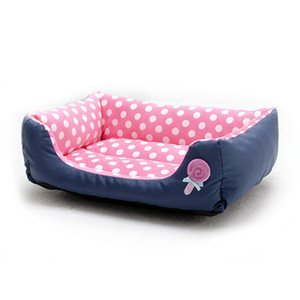 Dot Dog Pet Bed doces cores suaves confortável e acolhedora dormir Waterproof Kennel Mat Para Menor Médio Dogs Puppies Acessórios Pet