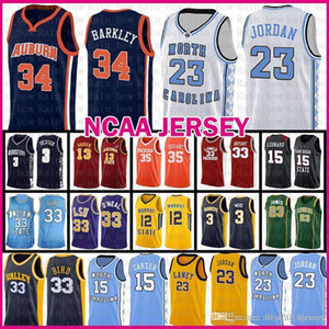 Michael JD 23 MENS Auburn Charles Barkley 34 venta barata Jersey Valley Escuela del estado de Indiana Universidad Larry Bird 33 Murray Ja 12 Morant