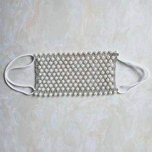 Color plata del Rhinestone de la perla de la mascarilla de Decoraciones para el partido de las mujeres de Bling Bling Jewlery Máscara de Cara Cuerpo decorativo mascarilla diamantes de imitación