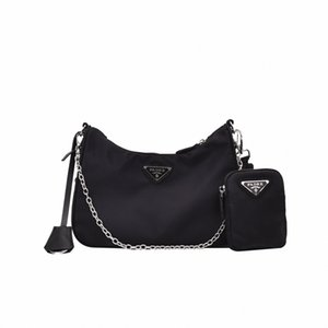 Frauen-Weinlese-Taschen-Sets neue Art und Weise breite Schultergurt Kette Messenger Bags Nylon Small Square Taschen einfache feste Crossbody N4x6 #
