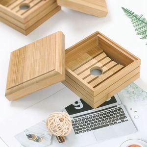 14 Стилей Деревянной мыльницы держатель подноса натурального бамбук хранение мыло стойка Plate Box Контейнер Вуд мыльница Storage Box DBC BH4106