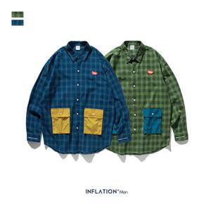 2020 new men shirt7 cotton fabric casual fashion classic color comfortable multi-mouth loose men quick-drying windbreaker shirt couple1