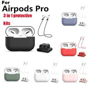 1 Koruyucu Setleri Silikon Kılıf Kayışı TWS Bluetooth Kulaklık İzle Bilek Bandı For 3 Pro Airpods Aiprods 3 için