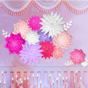 DIY Paper Flower Backdrop, Wedding Backdrop, 20cm Paper Flowers Kid's Birthday Party Wall Hanging Decor