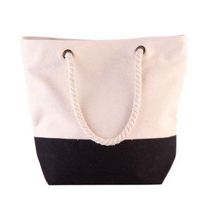 FGGS-Fashion cucitura semplice tela di Shoulder Bag Canvas Bag