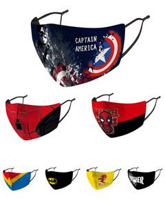 Face Mask банданы Designer Face Mask Дети Маска Riding холодной защиты Новый Человек-паук Бэтмен Superhero Детский Капитан Щит