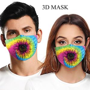 2020 progettista faccia adulti mascherina di modo lavabile cielo stellato girasole maschera digitale bocca stampa fresca maschera regolabile orecchio appeso protettivo