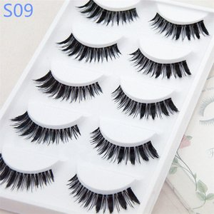 ELP001 5-10mm normal quality cheap 5 pair 3D Eyelashes Lashes Packing In Tray synthetic material cheap eyelash for new user wedding party