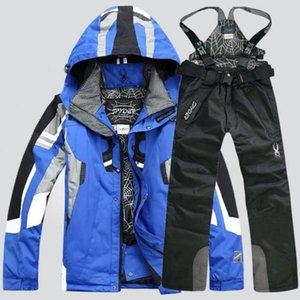 Паук мужского туризма лыжного костюм новой мода хлопок куртка рубашка брюки роскошные 2 шт спортивной бесплатной доставки