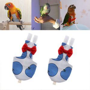 2 Pack Parrot reutilizáveis Fraldas de bolso Pássaro fralda de pano Pee Pad Apple azul de Budgie periquito Cockatiels Tampa