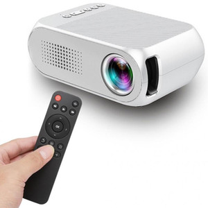 Home Mini LCD Projector USB Portable Home Theater Player HD 1080P Cinema System Audio with Remote Control 100-240V White