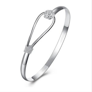 Romantic flower bracelet 925 sterling silver bracelet for women wholesale valentine star ps1445
