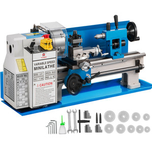 """New arrival 7""""x14"""" Mini Metal Lathe 550W Precision Metalworking Dependable Performace Professional Professional composite tool holder"""