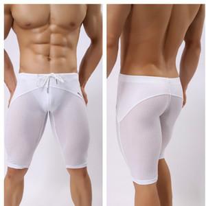 Мужчины плавках Мужские спортивные штаны Мужчины дышащей Плавание Boxer Shorts Mens 2020 Новые Повседневный Купальники Активные Голый
