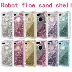 cgjxsFor Iphone X Defender liquide Glitter Bling souple Tpu Quicksand couverture arrière téléphone pour iPhone X / 8/7/6