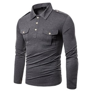 Gray Man Long Sleeve Solid T-shirt Men's Cotton Casual Tshirts 0924