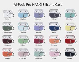 Apple Airpods 프로 케이스에 대한 새로운 이어폰 케이스 애플 에어 포드 프로 케이스 실리콘 커버 Pro 3 헤드폰 이어폰 이어폰 훅 충전 상자 충격 방지